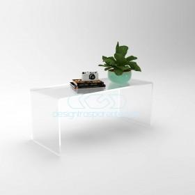 Tavolino a ponte cm 90x60 tavolo da salotto in plexiglass trasparente