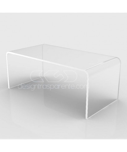Tavolino a ponte cm 100x40 tavolo da salotto in plexiglass trasparente
