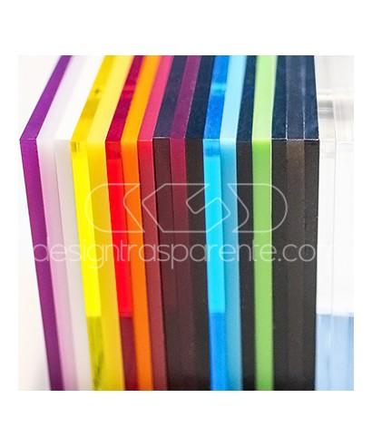 Campionatura plexiglass trasparente colorato fume specchio, perspex