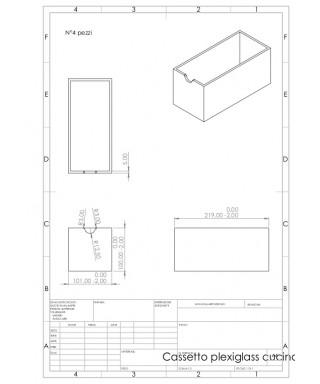 Cassetti su misura in plexiglass trasparente come da disegno