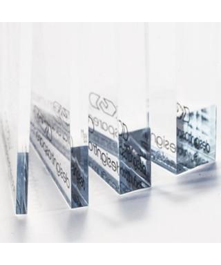Lastra in plexiglass trasparente  cm 44x41 bordo lucido
