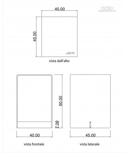 Tavolino SU MISURA a ponte 40x45h60 con incisione personalizzata