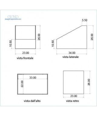 8 Contenitori per astucci, espositori in plexiglass trasparente