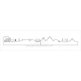 Paracolpi skyline Roma in plexiglass adesivo