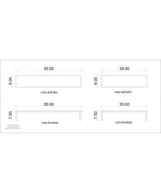 Alzatine Su MISURA in plexiglass trasparente varie misure