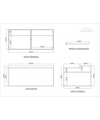 Vetrina in plexiglas trasparente realizzata come da disegno