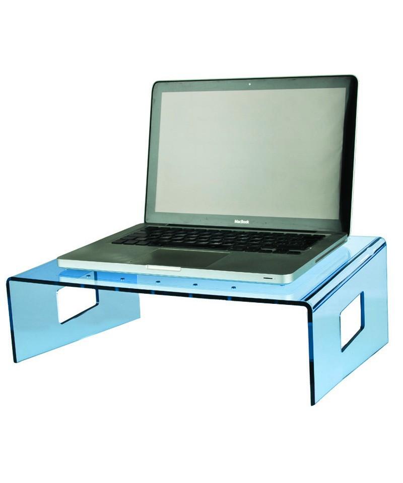 Servilio supporto per portatile in plexiglass azzurro porta pc