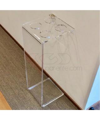 Minimal acrylic umbrella stand cm 25x25h70 transparent