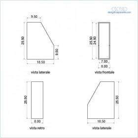 6 Faldoni in plexiglass colorato trasparente su misura come da disegno