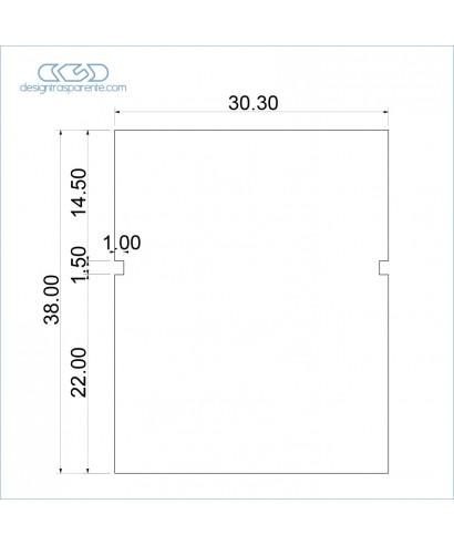 3 Pannelli in plexiglass 10 mm taglio laser come da disegno