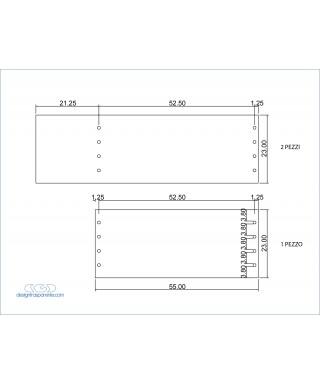 Plancha Metacrilato Azul Transparente 520 - láminas y paneles a medida