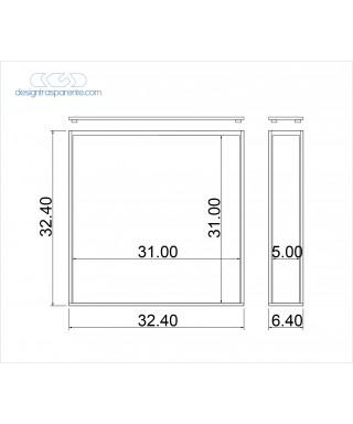 Contenitore per album matrimoni 31x31x5 in plexiglass su misura