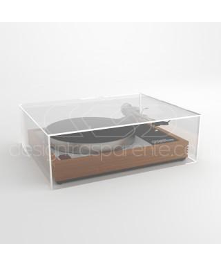 Coperchio per giradischi 40x40H15 su misura in plexiglas trasparente