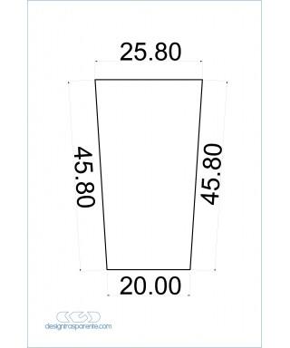 Trapezio in Plexiglass nero lucido taglio laser su misura