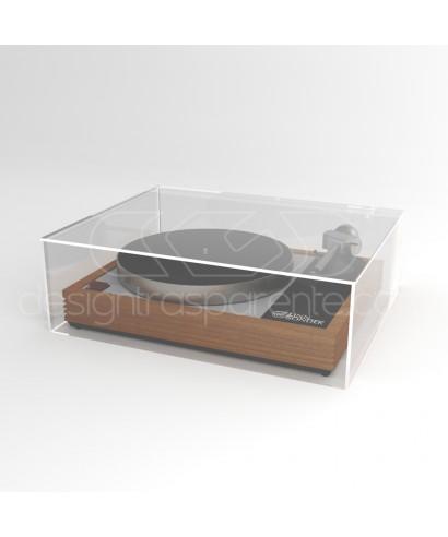 Coperchio per giradischi 55x45H25 su misura in plexiglas trasparente