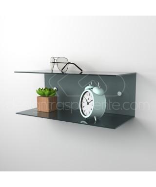 Acrylic 25x15 wall-mounted night table and bedside shelf