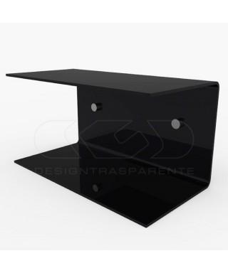 Acrylic 50x15 wall-mounted night table and bedside shelf