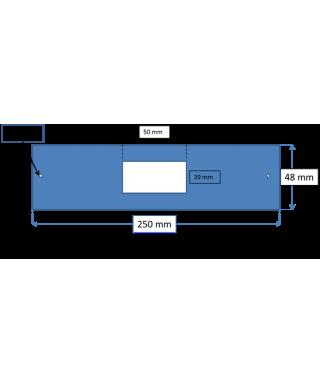 Placchette in plexiglass bianche taglio laser su misura