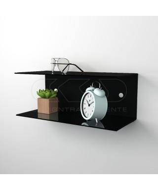 Acrylic 55x20 wall-mounted night table and bedside shelf