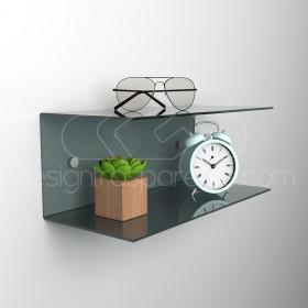 Acrylic 60x20 wall-mounted night table and bedside shelf