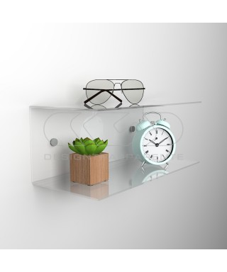 Acrylic 50x20 wall-mounted night table and bedside shelf