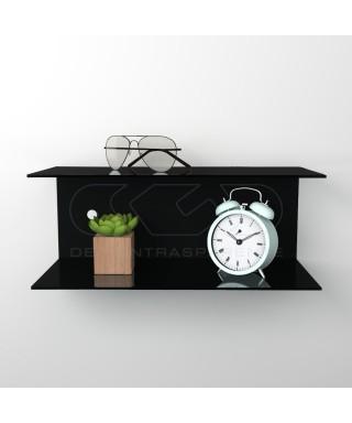 Acrylic 70x20 space-saving C-shaped double shelf