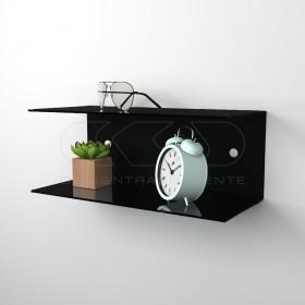 Acrylic 80x15 wall-mounted night table and bedside shelf