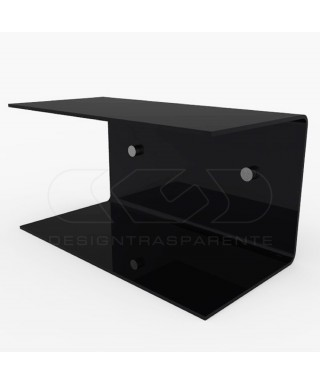 Acrylic 75x15 wall-mounted night table and bedside shelf