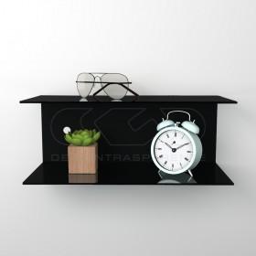 Acrylic 75x20 wall-mounted night table and bedside shelf