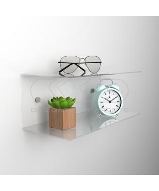 Acrylic 85x15 space-saving C-shaped double shelf