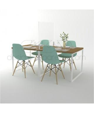 Divisorio di protezione da tavolo separatori e saparè in plexiglass