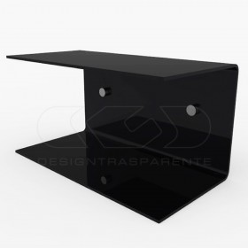 Acrylic 90x20 wall-mounted night table and bedside shelf