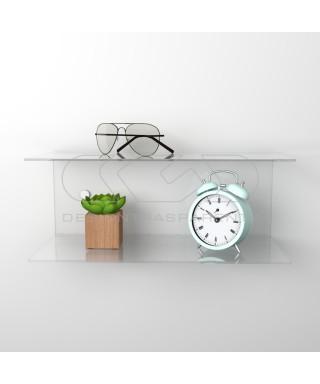 Acrylic 95x20 wall-mounted night table and bedside shelf