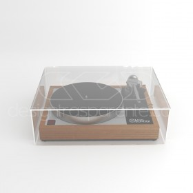 Turntable cover box 45x40H15 transparent acrylic