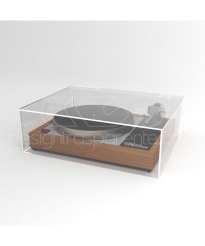 Turntable cover box 50x45H20 transparent acrylic