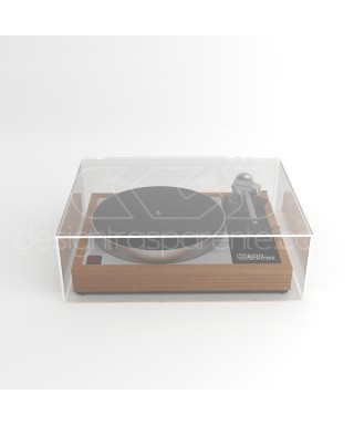 Coperchio 62x33h29 per giradischi in plexiglass trasparente su misura