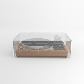 Turntable cover box 65x35H30 transparent acrylic