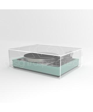 Tapa para tocadiscos 65x35 A30 en metacrilato transparente