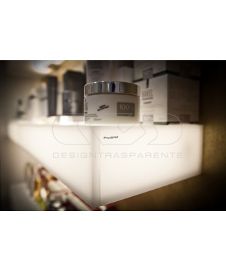Mensola luminosa cm 50 in plexiglass bianco luce LED naturale
