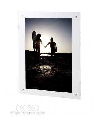 Photo Frame Base cm 95 variable H plexiglass with transparent screws