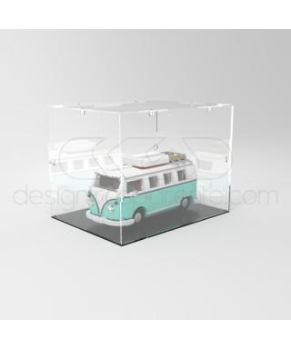 Teca 65x45h40 vetrinetta da montare in plexiglass trasparente