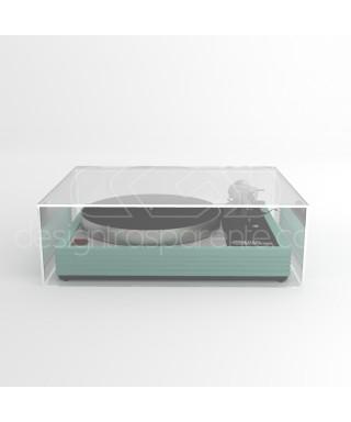 Coperchio per giradischi 60x45H20 su misura in plexiglas trasparente