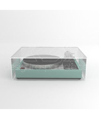 Turntable cover box 60x45H20 transparent acrylic