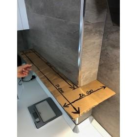 Mensola su misura come da sagoma in plexiglass trasparente