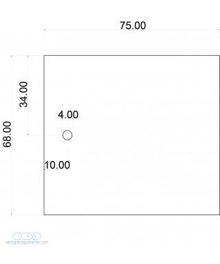 Pannelli in plexiglas grigio topo coprente taglio e fori su misura