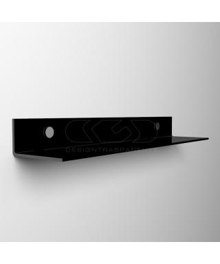 Mensola a L cm 35 in plexiglass trasparente o colorato senza staffe