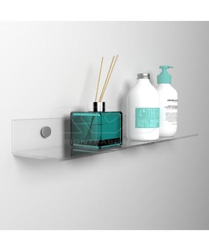 Wall shelf cm 45 transparent or colored acrylic no need brackets