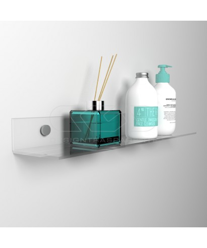 Wall shelf cm 55 transparent or colored acrylic no need brackets