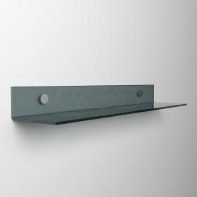 Mensola a L cm 55 in plexiglass trasparente o colorato senza staffe