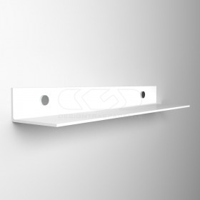 Wall shelf cm 75 transparent or colored acrylic no need brackets